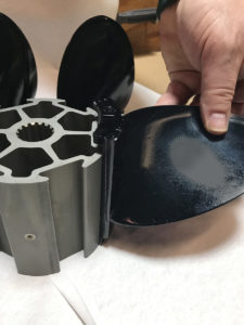 removing a blade from BBLADES 6-Shooter propeller